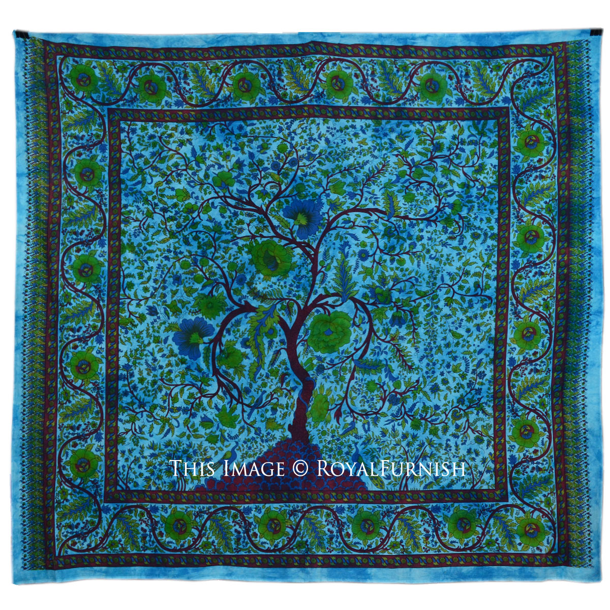 Freshen Up Bedroom Interior With Tree Of Life Tapestry