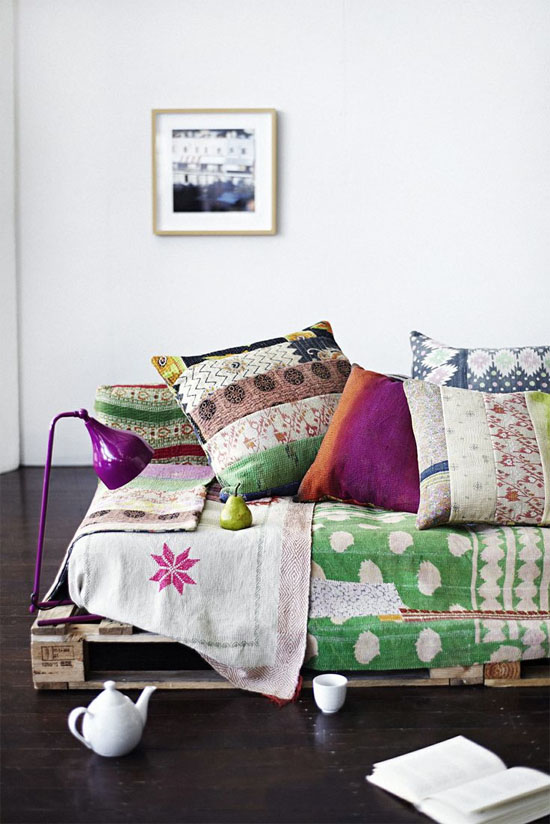 Kantha Pillows