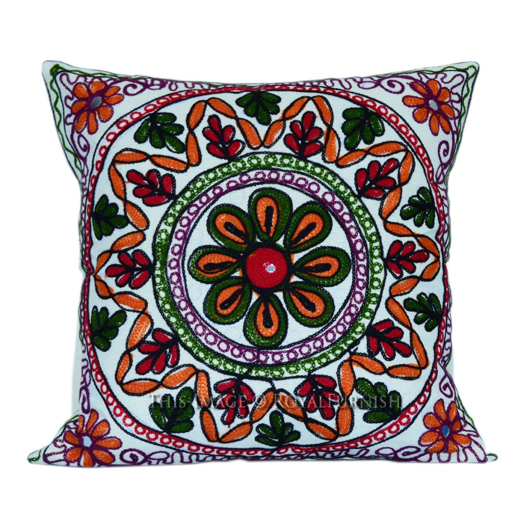Woolen Embroidered Pillow