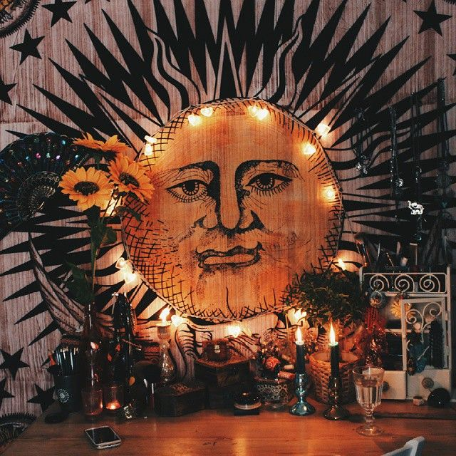 Sun and Moon Tapestry Wall Hanging 08