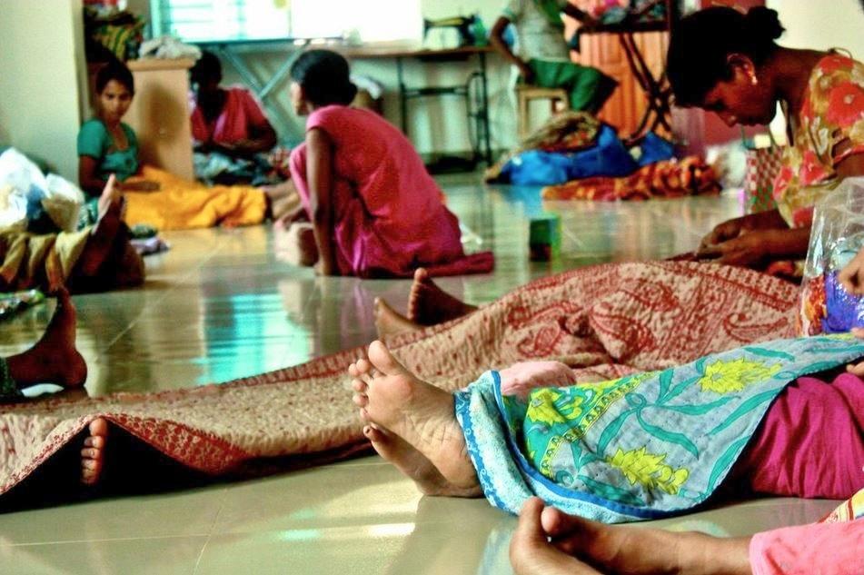 kantha quilt making