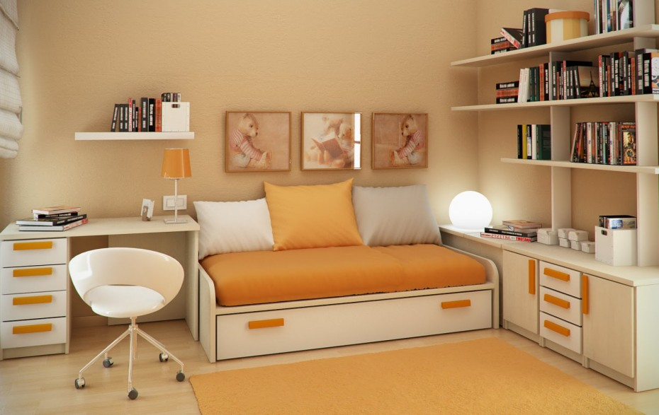 Orange Bedroom Ideas Adults small bedroom decorating tips | royal furnish