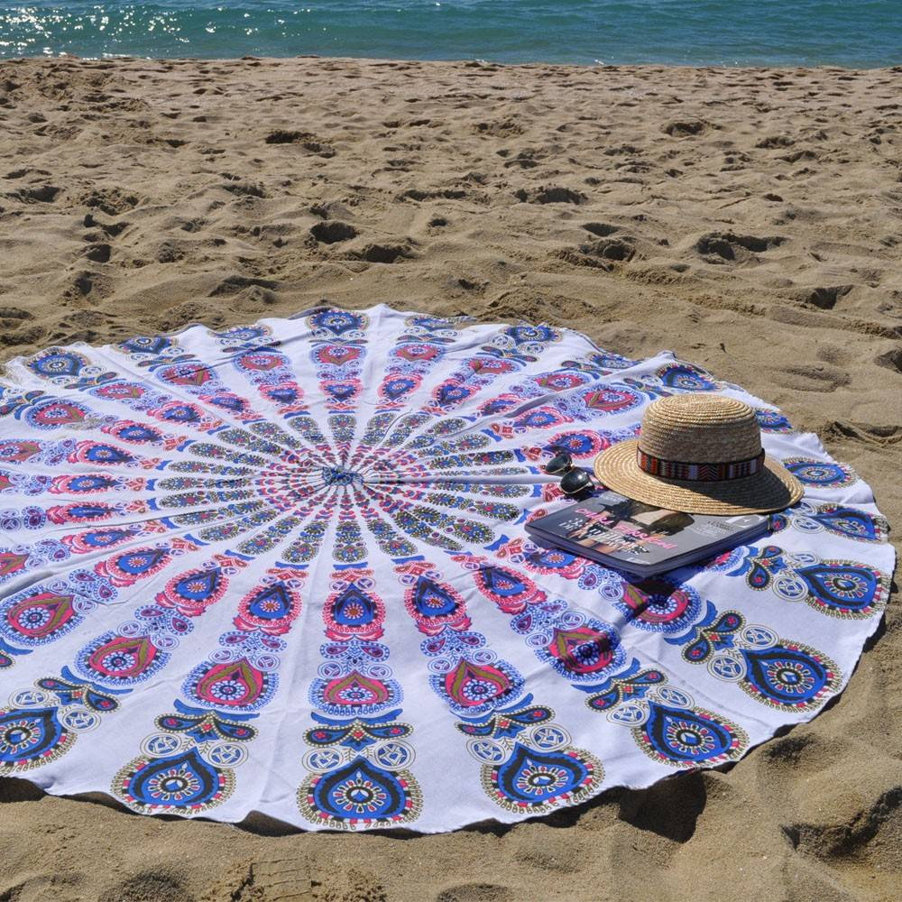 old mandala roundie beach throw