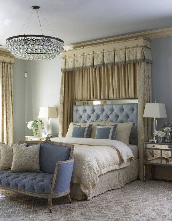 Tricks to decorate most romantic bedroom royal furnish for Interior design bedroom blue white