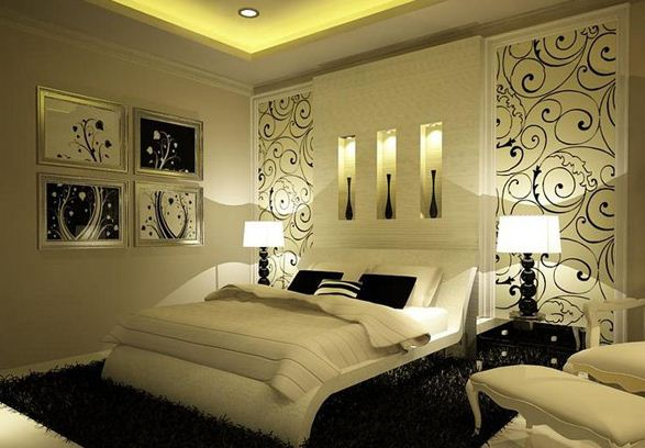 Tricks to decorate most romantic bedroom royal furnish for Romantic master bedroom designs