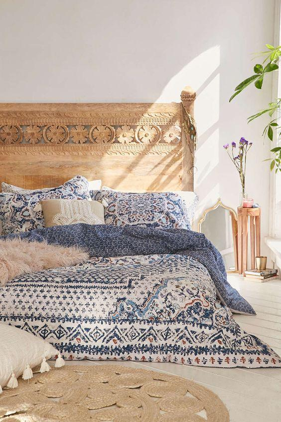 Boho Is All About Picking Up The Best Of Eclectic Decor Items For The  Space. A Good Piece To Start With In Your Bedroom, Is An Artistic Wooden  Headboard.