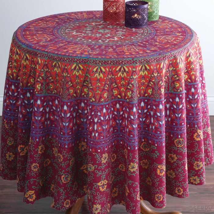 elephants-plum-round-tablecloth-serrv