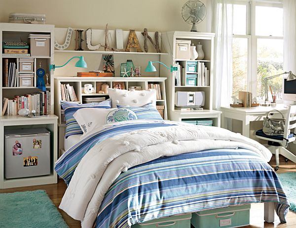 teenage bedroom with storage