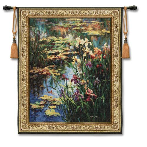 Pure Country Weavers Summer Lily Small Woven Wall Tapestry