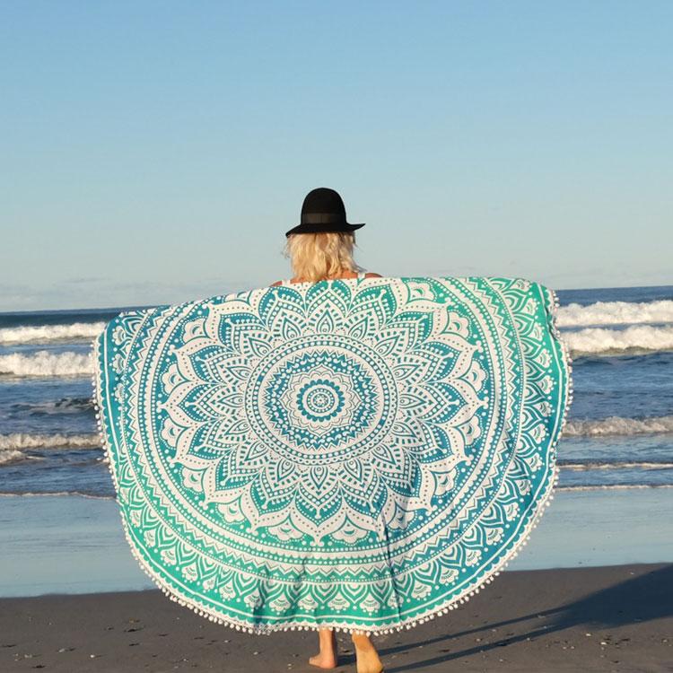 sea green beach towel