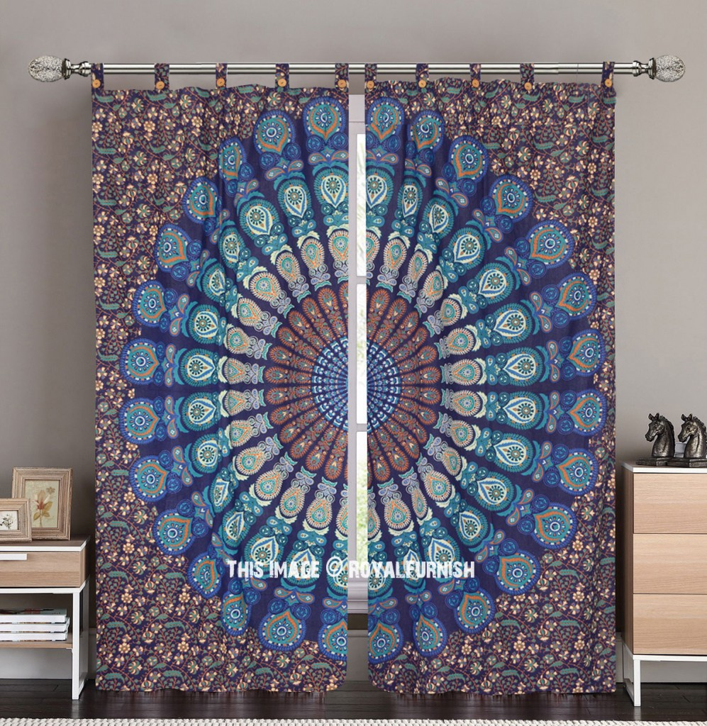 Hippie Boho mandala curtain