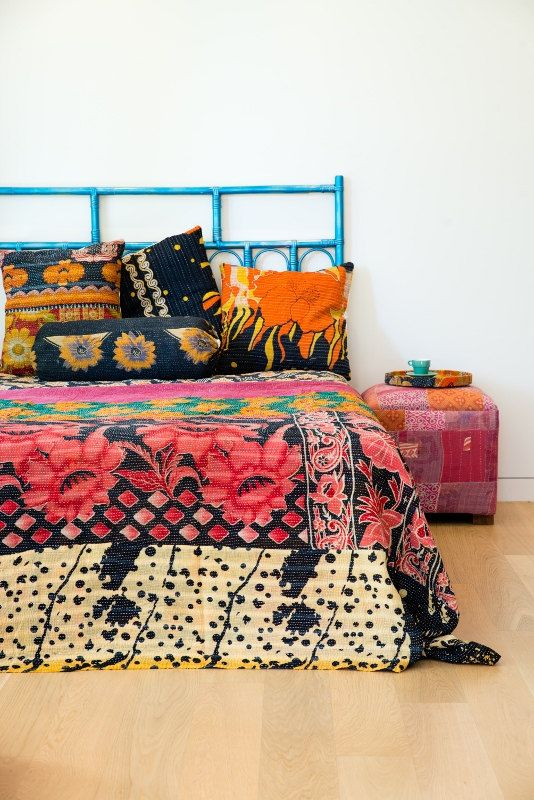 bohemian bedding room