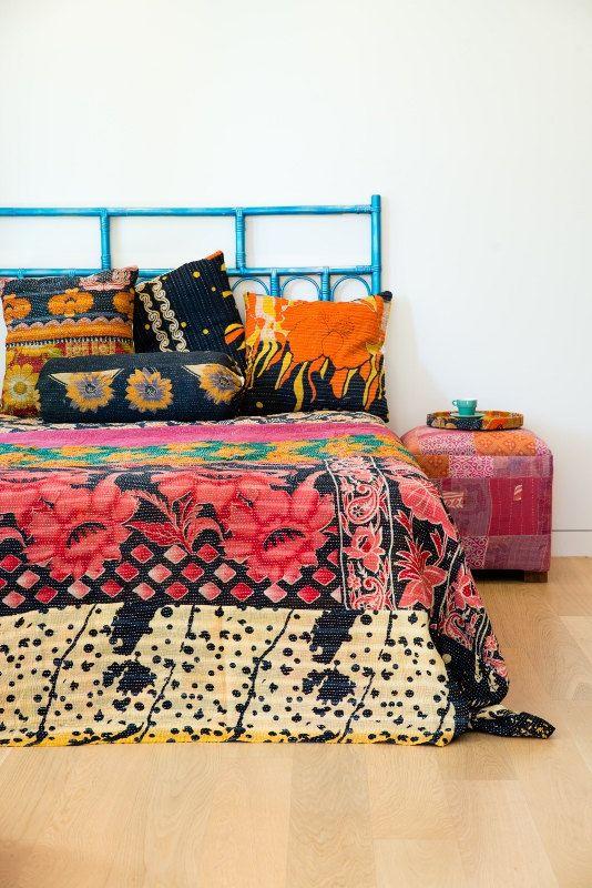 bohemian bedding room