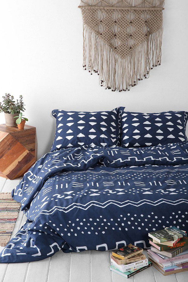 boho bedding bedroom area