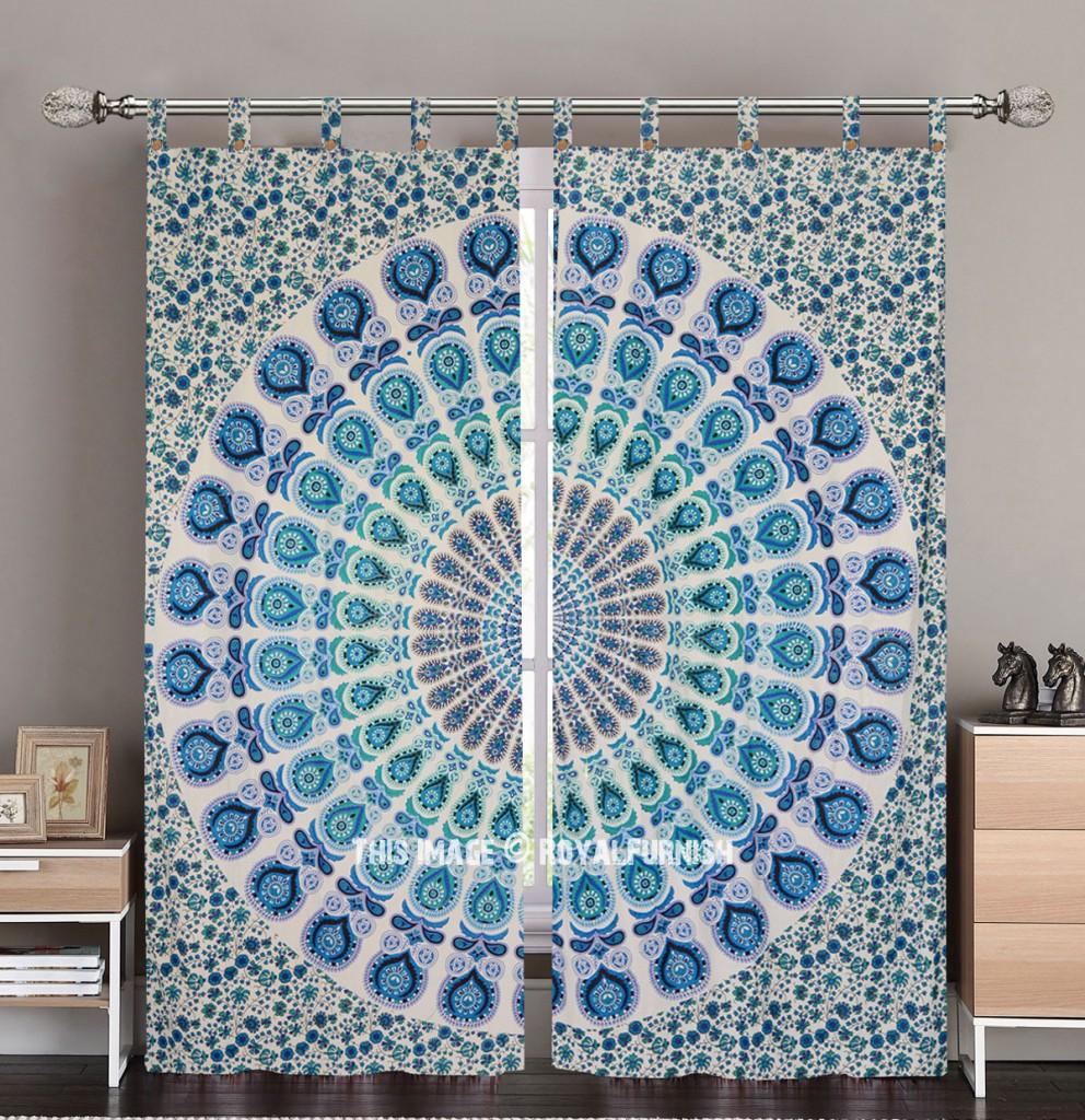 boho mandala curtain