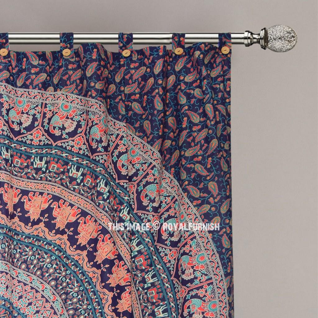 mandala boho curtain