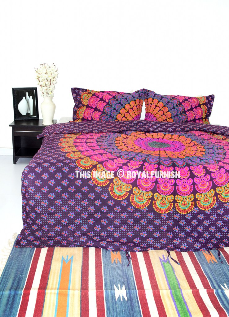 peacock mandala bedding